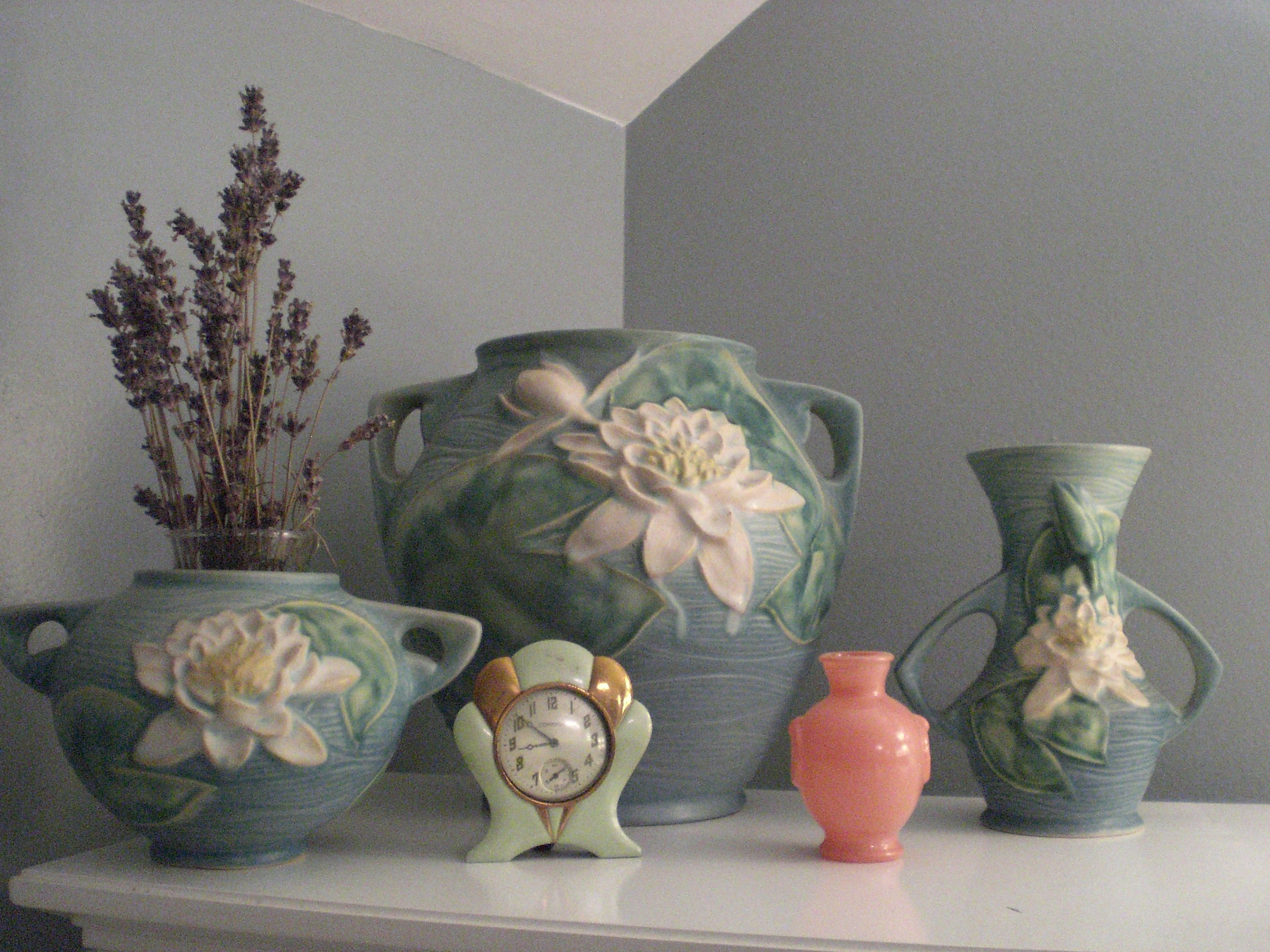 roseville double bud vase of roseville water lily roseville love pinterest with roseville water lily
