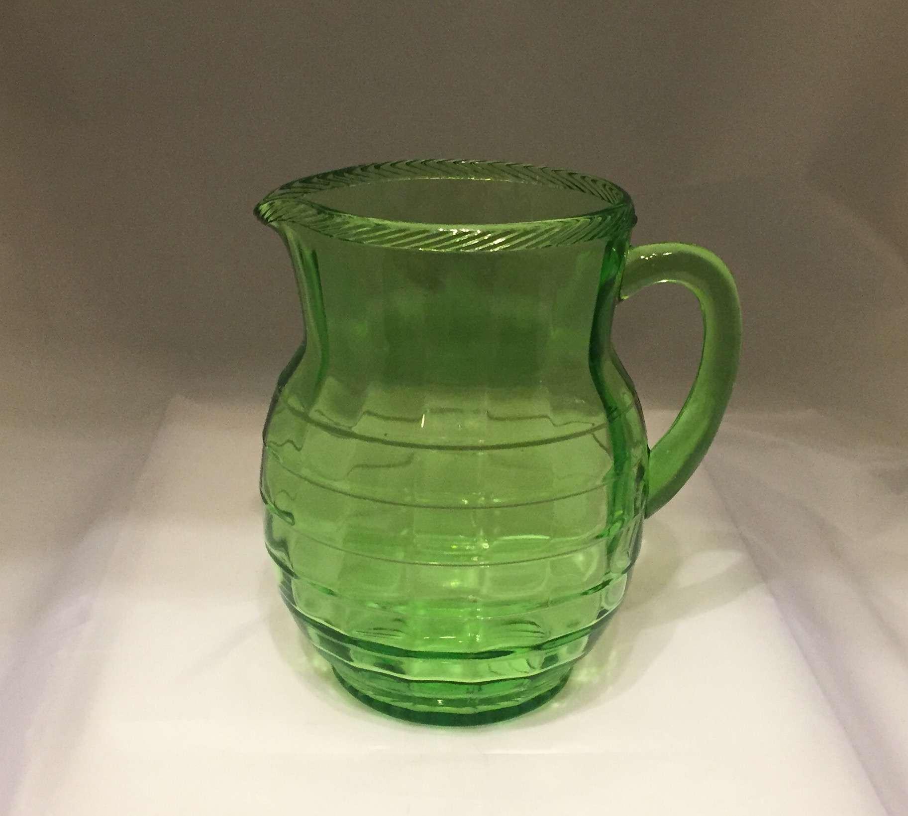 roseville iris vase of depression glass price guide and pattern identification for blockpitcher 5786c8e35f9b5831b54ecdb1