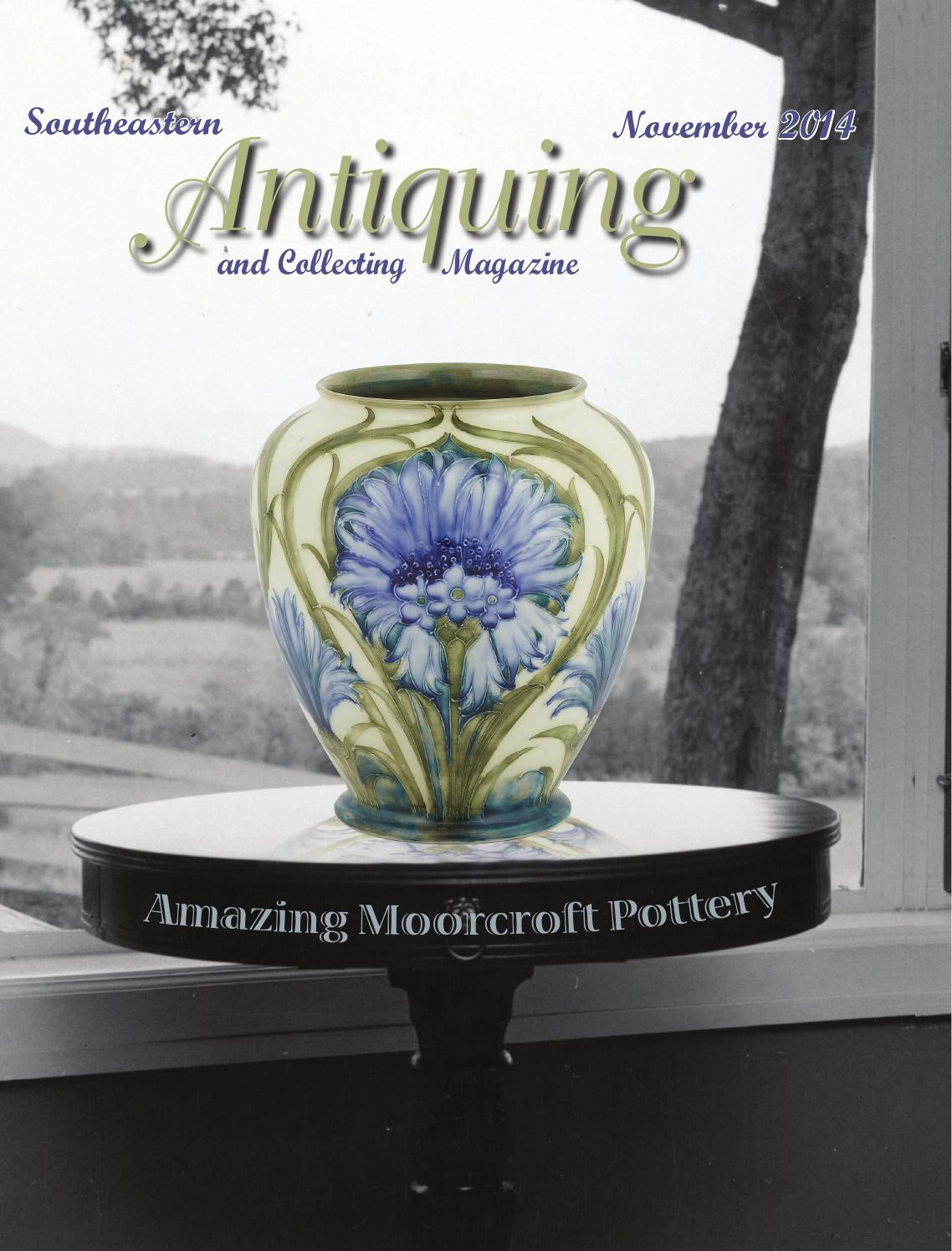 Roseville Pottery Magnolia Vase Of southeastern Antiquing and Collecting Magazine November 2014 by Intended for southeastern Antiquing and Collecting Magazine November 2014 by southeastern Antiquing and Collecting Magazine issuu