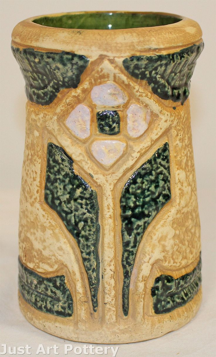 roseville pottery vase clematis of 53 best roseville pottery mostique images on pinterest roseville intended for roseville pottery mostique vase from just art pottery