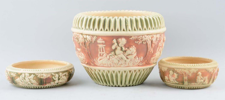 roseville pottery white rose vase of roseville pottery identification and value guide throughout rosevilledonatello 58250fe33df78c6f6aaa4da3