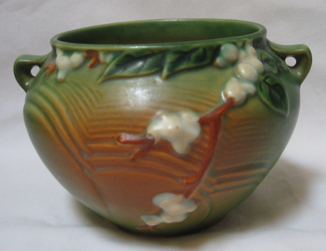 roseville snowberry vase of antique roseville pottery snowberry green jardiniere 27 99 picclick intended for antique roseville pottery snowberry green jardiniere 1 of 7 see more