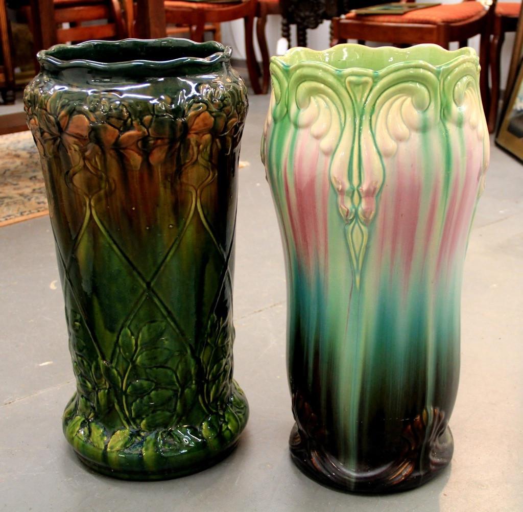 roseville vase patterns of roseville umbrella stands www imagenesmy com within roseville umbrella or cane holder art nouveau majolica umbrella or cane holder dealer jpg 1024x1002 roseville