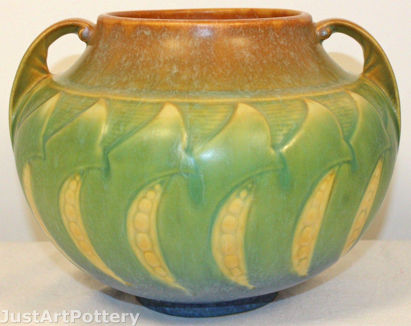 roseville vase patterns of shopgoodwill com 1933 roseville blackberry pattern cerami intended for roseville pottery falline blue vase 650 6 from just art pottery