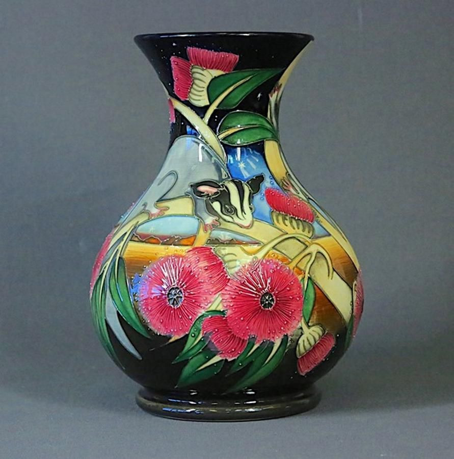 Roseville Vase Price Guide Of Moorcroft Sugar Gliders Vase Estate Collector Incl Late David Regarding Pottery