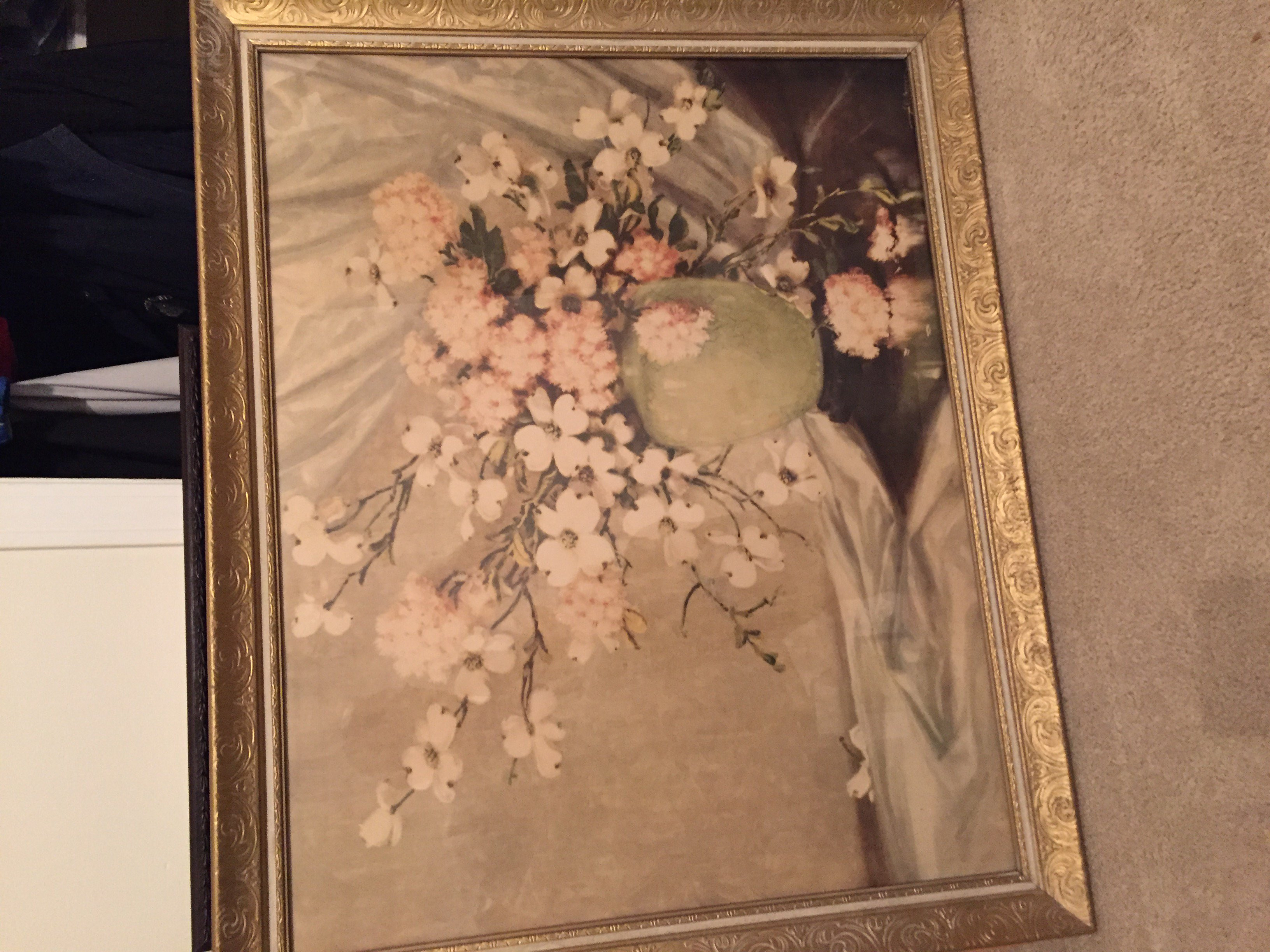 roseville water lily vase of i have a painting by a d greer light vase with flowers and buds pertaining to image