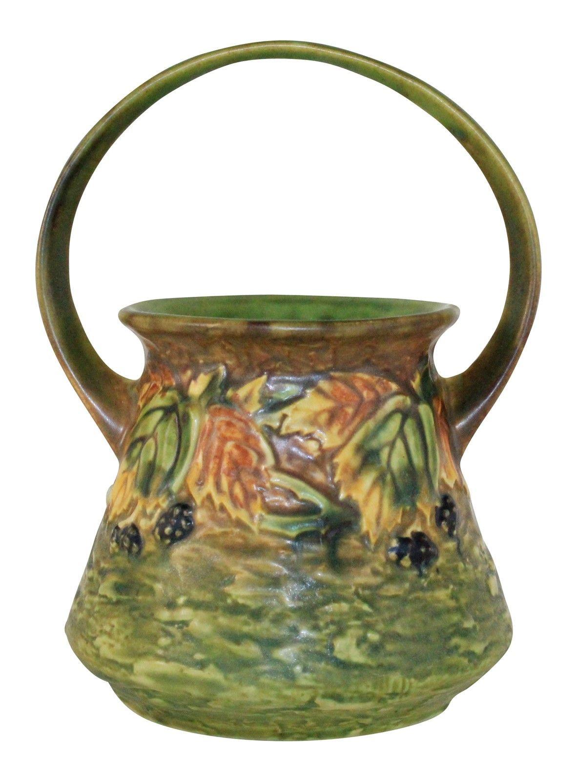 roseville water lily vase of roseville pottery blackberry basket 334 6 from just art po inside roseville pottery blackberry basket 336 8 extra image 2 large image
