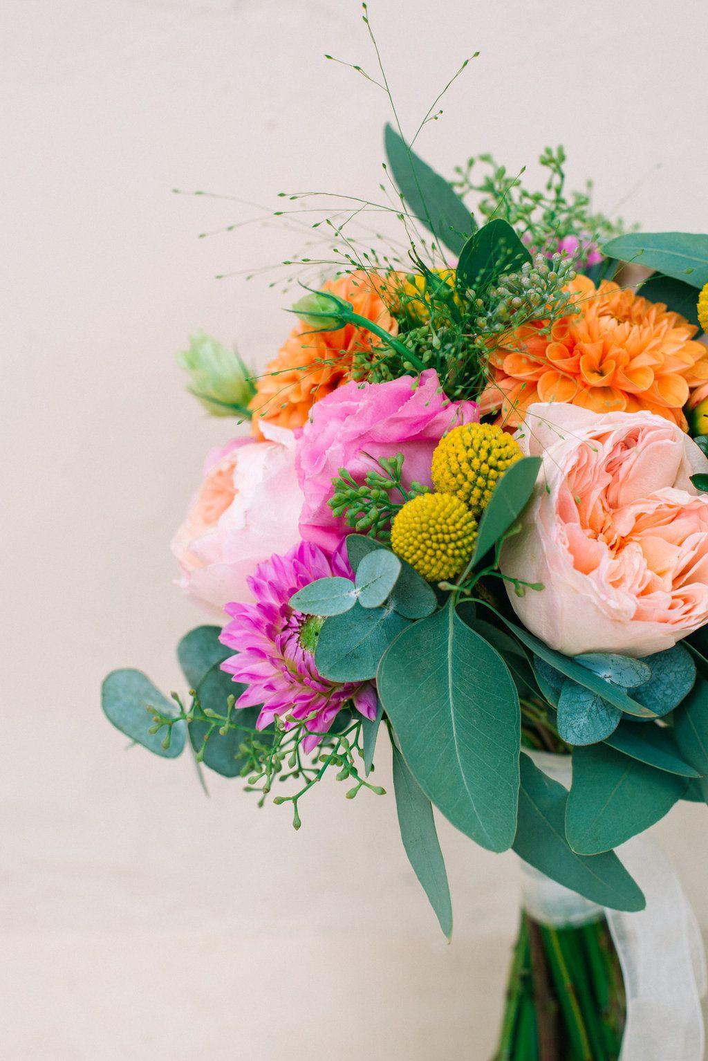 Round Vase Flower Arrangements Of Pops Of Pretty Wedding Flowers Inspiration Pinterest Flowers Regarding Flower Arrangements