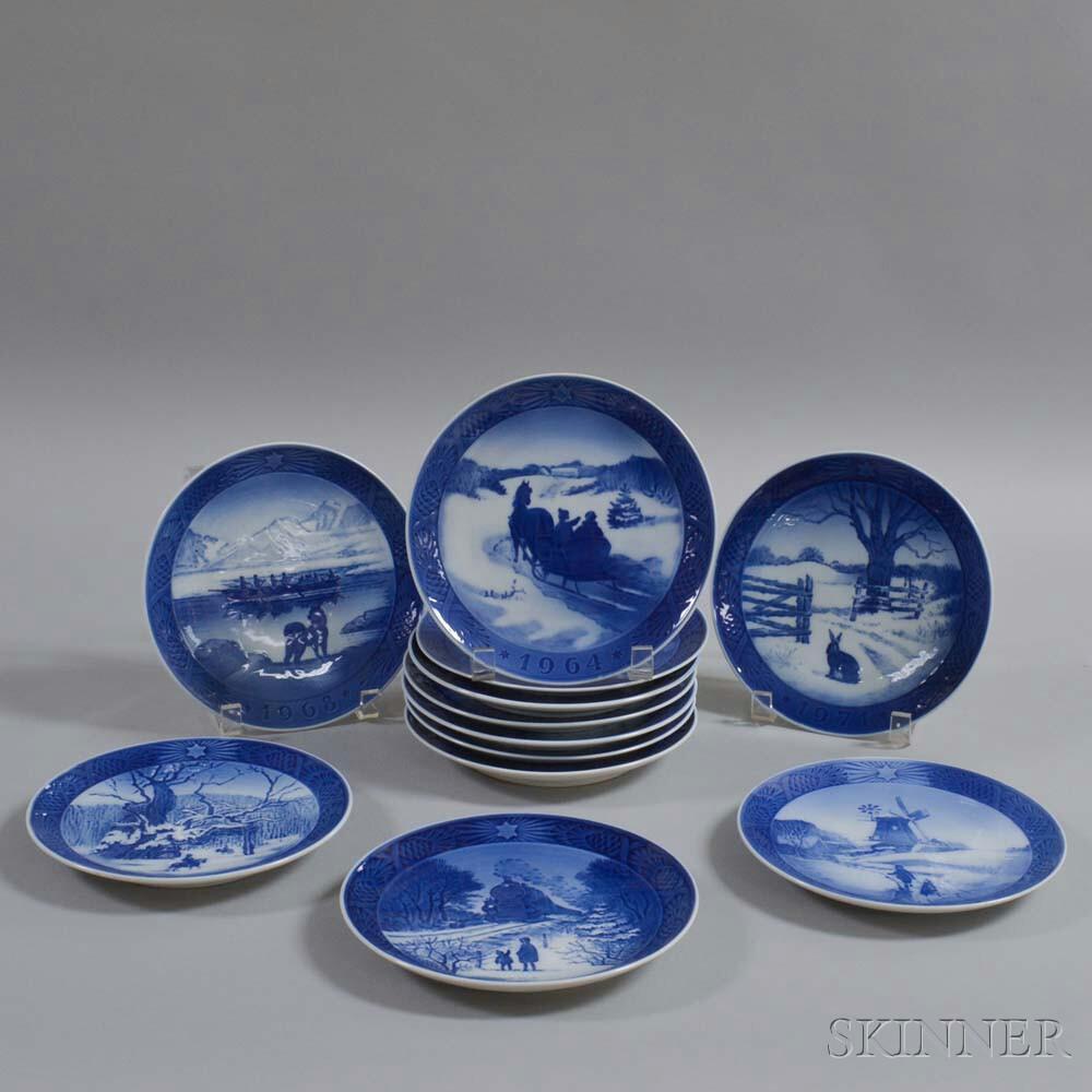 Royal Copenhagen Vases Of Royal Copenhagen Royal Copenhagen Blue Fluted Full Lace Dinnerware Pertaining to Twelve Royal Copenhagen Porcelain Christmas Plates