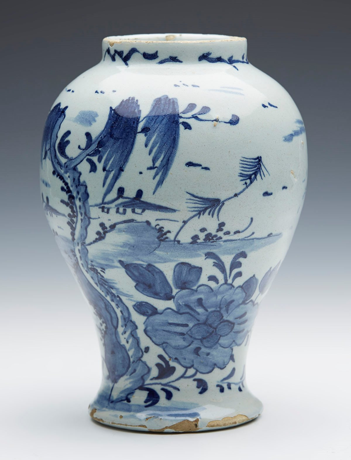 royal delft tulip vase of buy blue delft pottery vases ebay within antique delft chinoiserie design blue white vase 18th