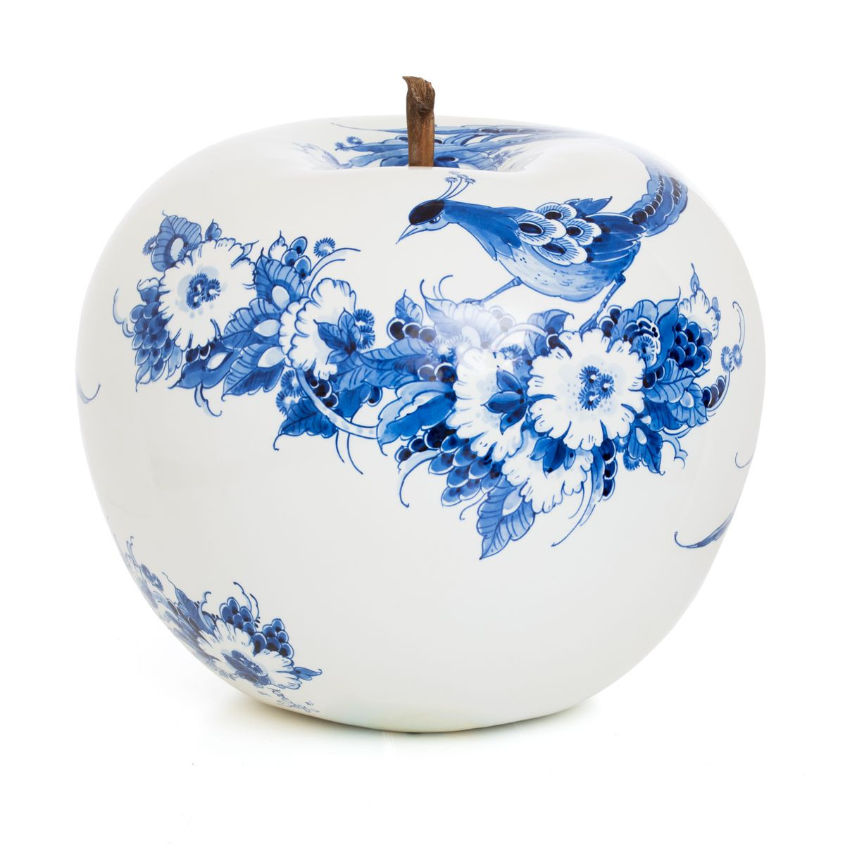 royal delft tulip vase of peacock hand painted apple by sabine struycken for royal delft for intended for peacock hand painted apple by sabine struycken for royal delft