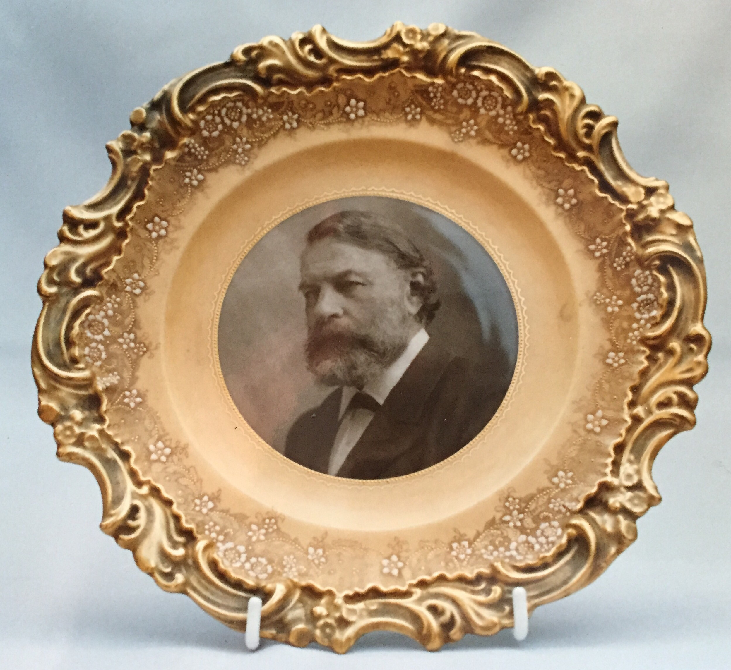 royal doulton art nouveau vases of art nouveau doultoncollectorsclub in early plate with a photographic image of joseph joachim a popular violinist