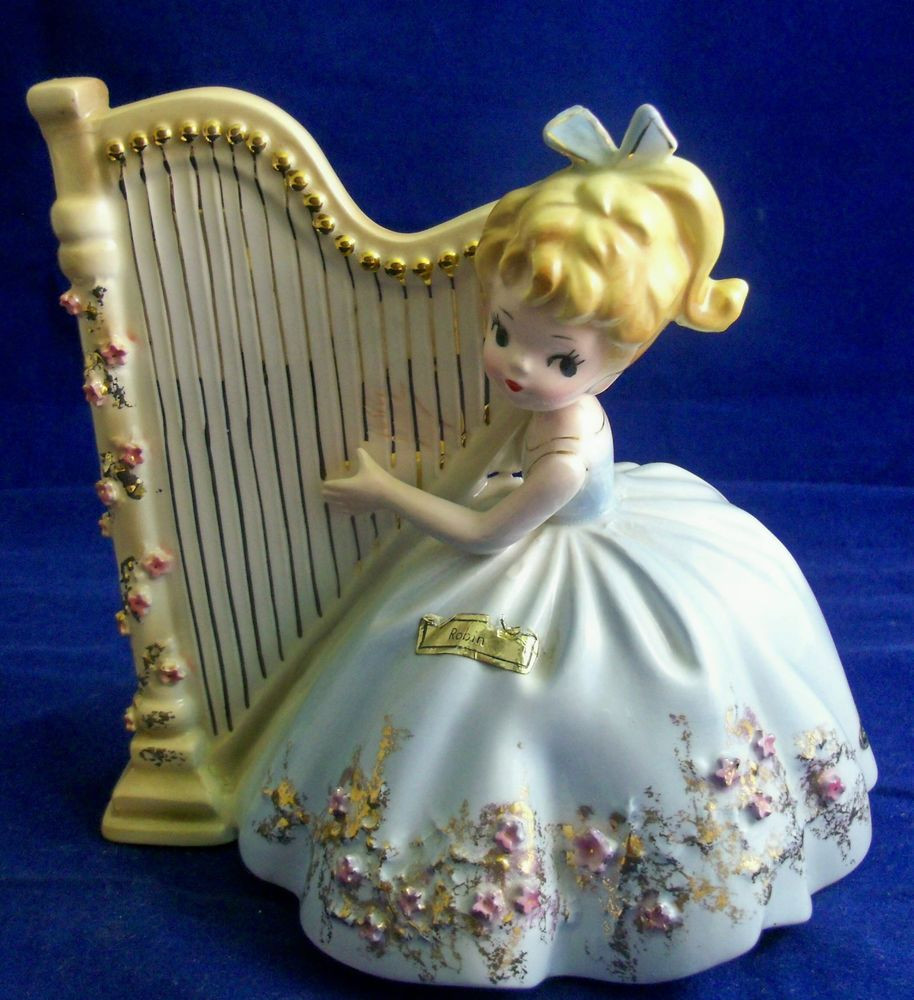 royal doulton juliet vase of vintage josef originals robin figurine 5 1 2 inch blue girl blonde in vintage josef originals robin figurine 5 1 2 inch blue girl blonde harp
