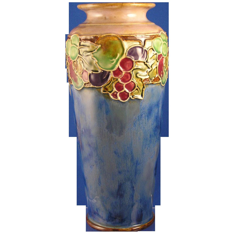royal doulton vases 1900 of royal doulton arts crafts fruit motif vase signed by ma with royal doulton arts crafts fruit motif vase signed c 1923 1927