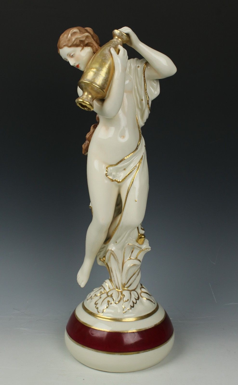 royal dux vase of royal dux art nouveau figurine 2987 woman with urn worldwide within 1 of 12only 1 available