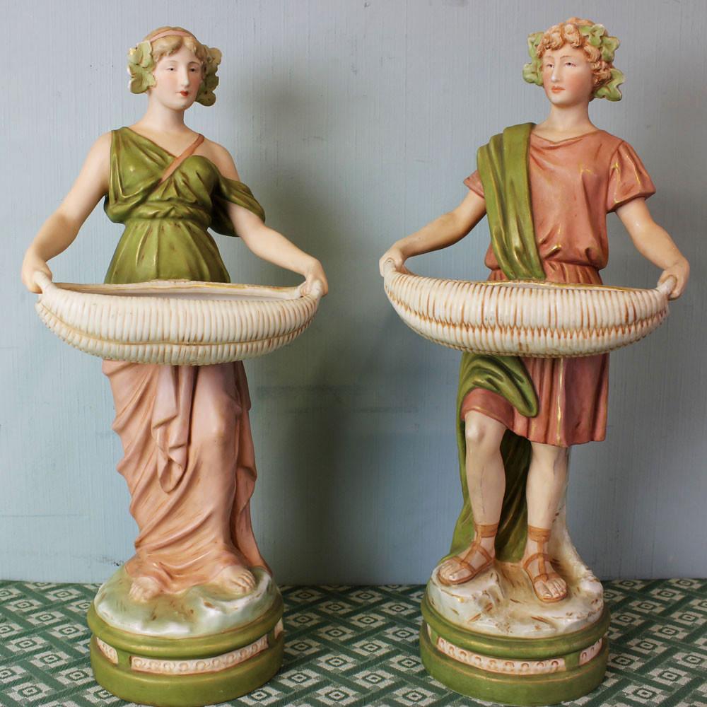 royal dux vases antique of antique pair royal dux porcelain figurines c 1910 10816 la79981 in antique pair royal dux porcelain figurines c 1910 1 of 9