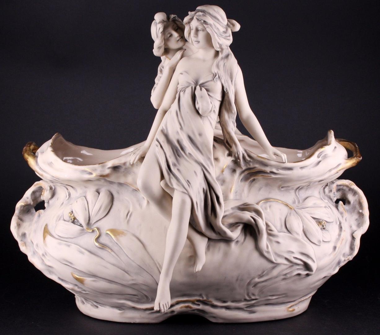royal dux vases antique of antique royal dux bohemia art nouveau porcelain pottery nymph vase with regard to previous
