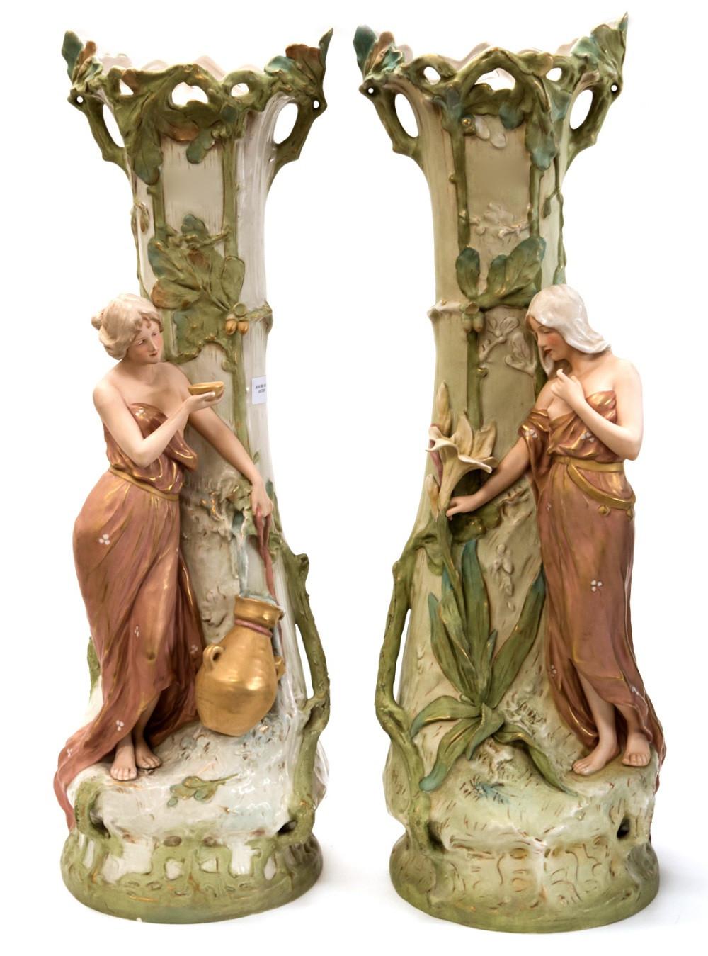 royal dux vases antique of f otto for royal dux a pair of large art nouveau figural vases within lot 234 f otto for royal dux a pair of large art nouveau figural