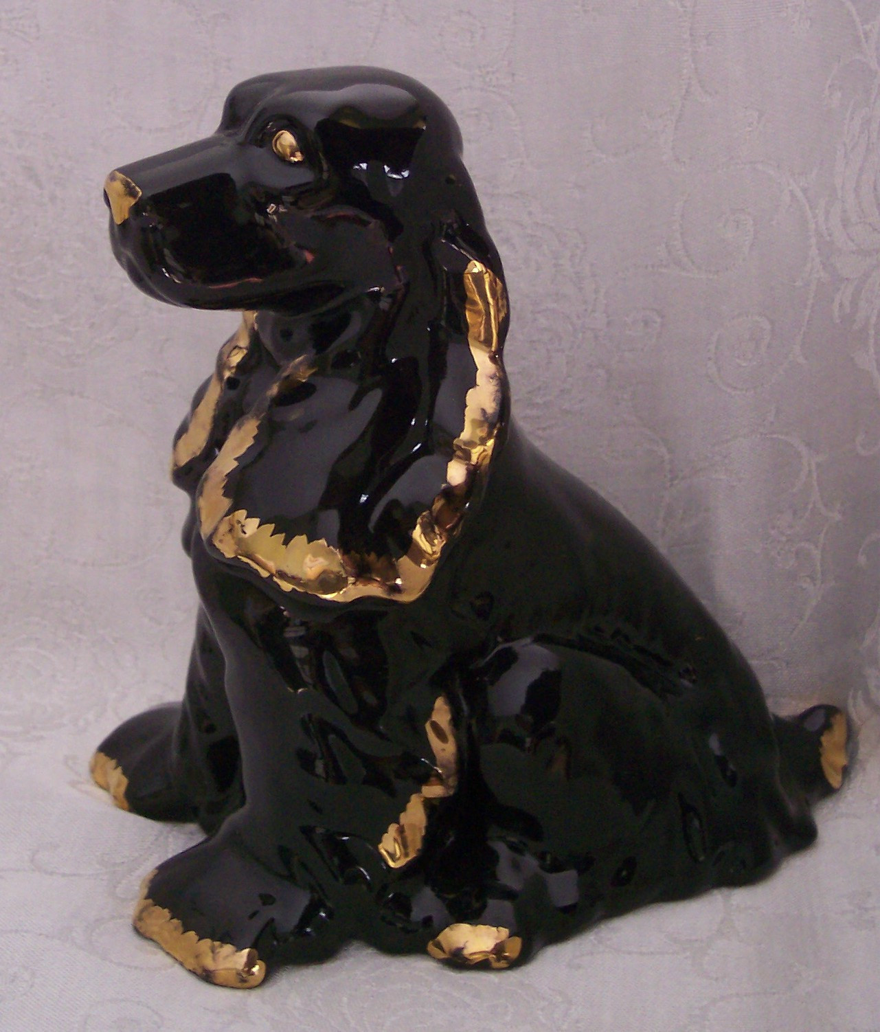 royal haeger vase r1752 of cameron clay cocker spaniel figurine statue and 50 similar items intended for metlox mccoy black cocker spaniel figurine gold trim1
