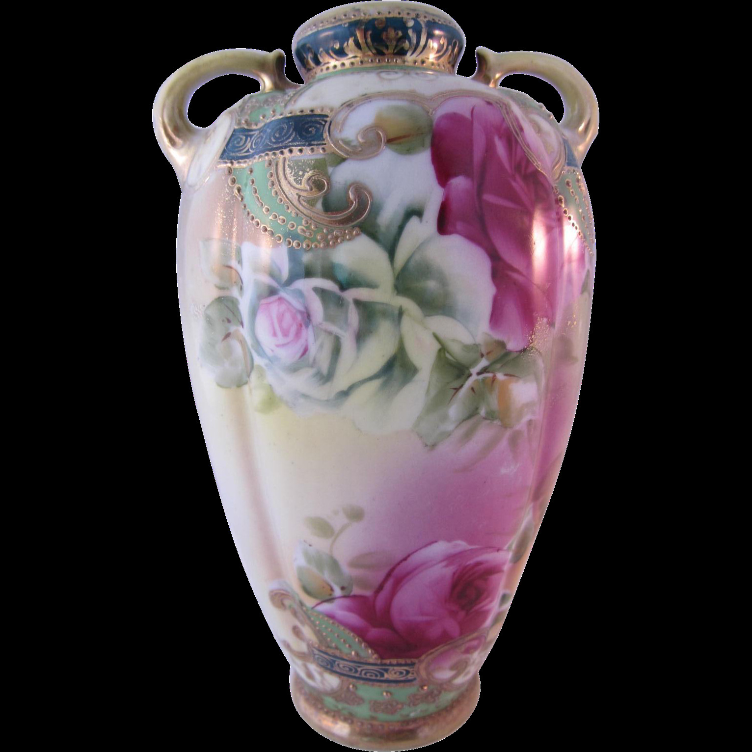 royal nippon hand painted vase of small antique nippon hand painted rose vase 8 5tall from bwhome on with small antique nippon hand painted rose vase 8 5tall from bwhome on ruby lane