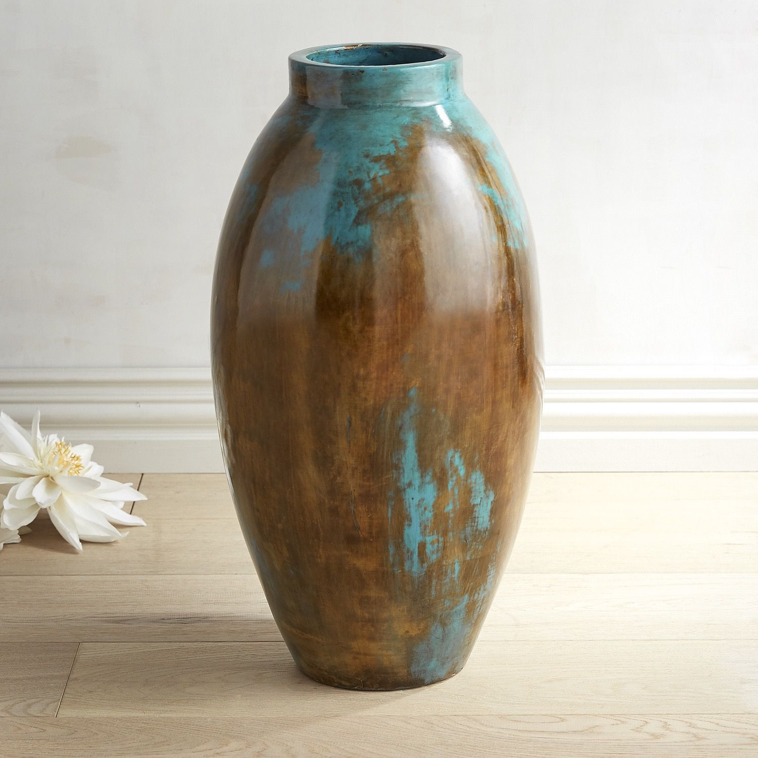 Rustic Floor Vase Of Blue Brown Oval Floor Vase Products Pinterest Vase Vases Pertaining to Blue Brown Oval Floor Vase