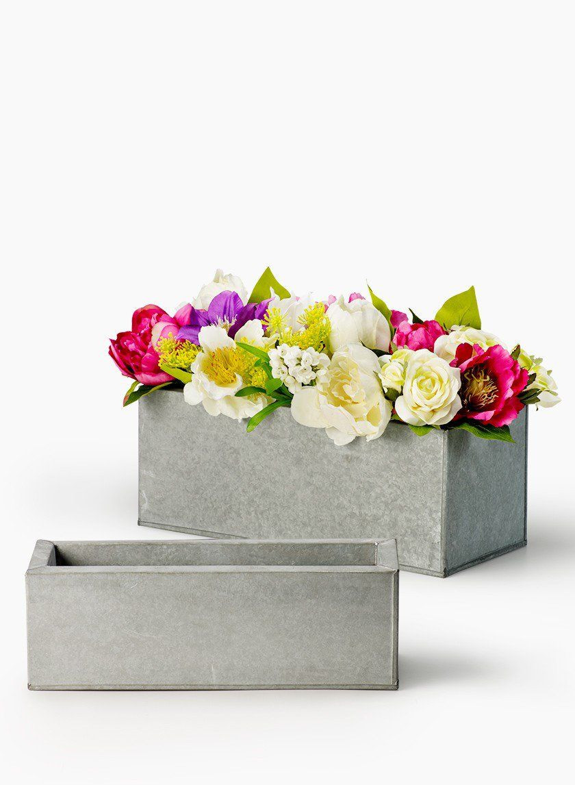 rustic metal flower vase of grey zinc rectangular planters lust list pinterest rectangular intended for grey zinc metal rectangular planter gay romantic rustic outdoor wedding flower centerpiece vase party floral supplies diy bride interior design props
