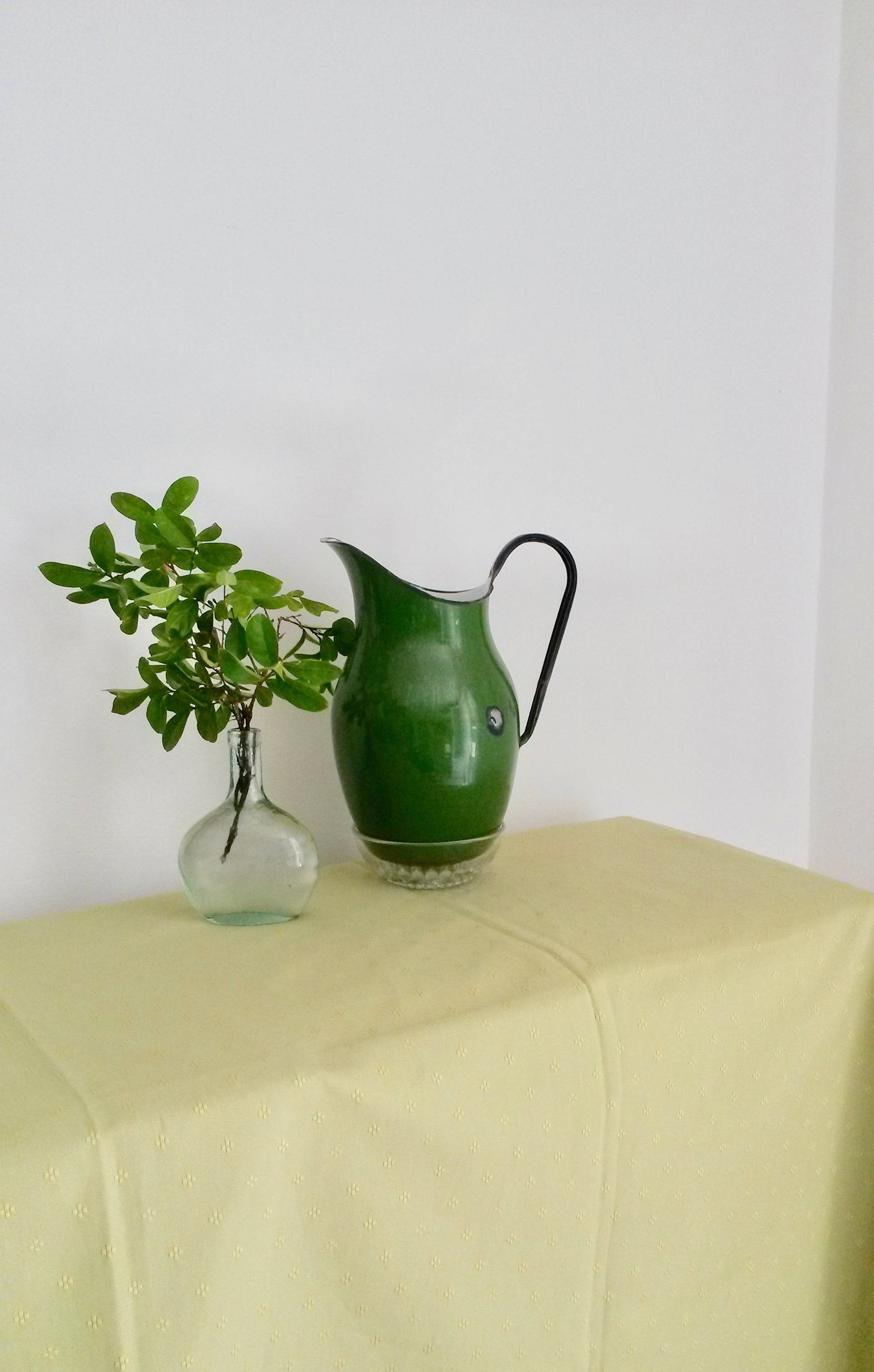 "rustic pitcher vase of green enamel pitcher water pitcher french boudoir pouring etsy with dŸ""Žzoom"