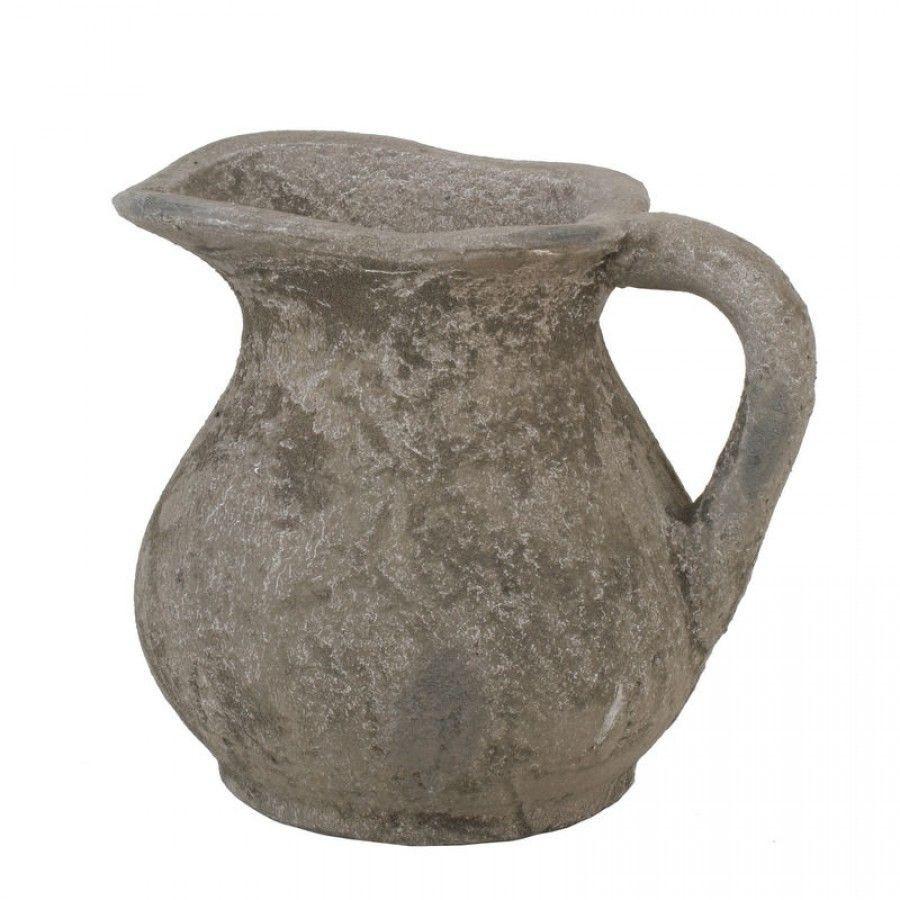 rustic pitcher vase of privilege ceramic pitcher in rustic stone 66039 home for privilege ceramic pitcher in rustic stone 66039