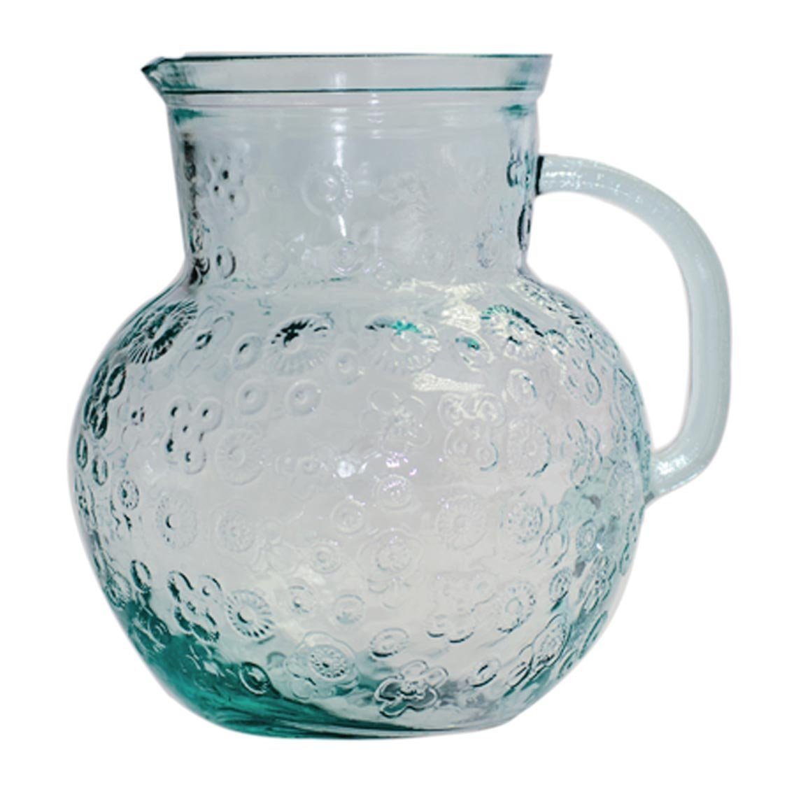 San Miguel Recycled Glass Vase Of San Miguel Flora Pitcher 2 3l Made In Spain From Recycled Glass Regarding San Miguel Flora Pitcher 2 3l