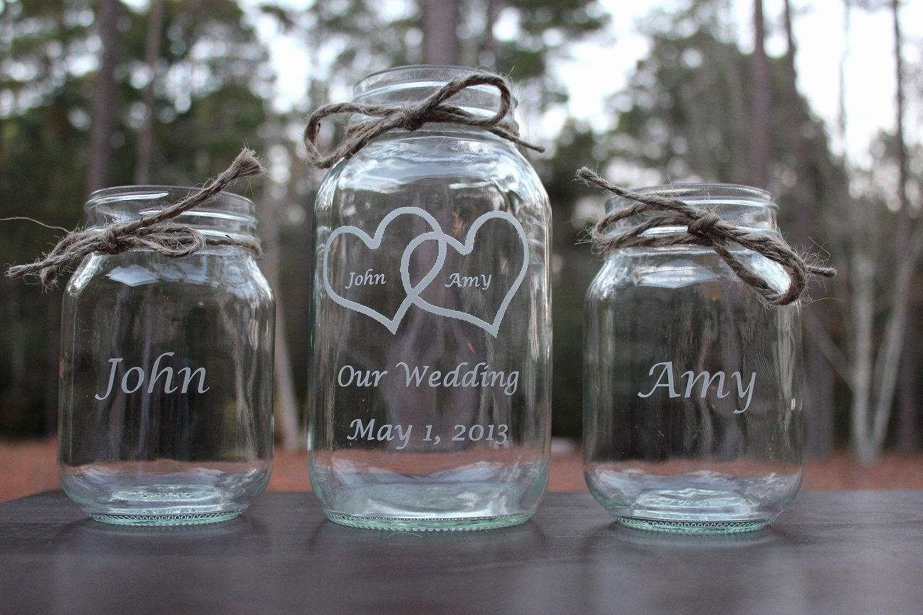 sand ceremony vase set of wedding ceremony sand pouring new wedding vases for unity sand in wedding ceremony sand pouring beautiful 3 piece personalized engraved mason jar sand ceremony set wedding