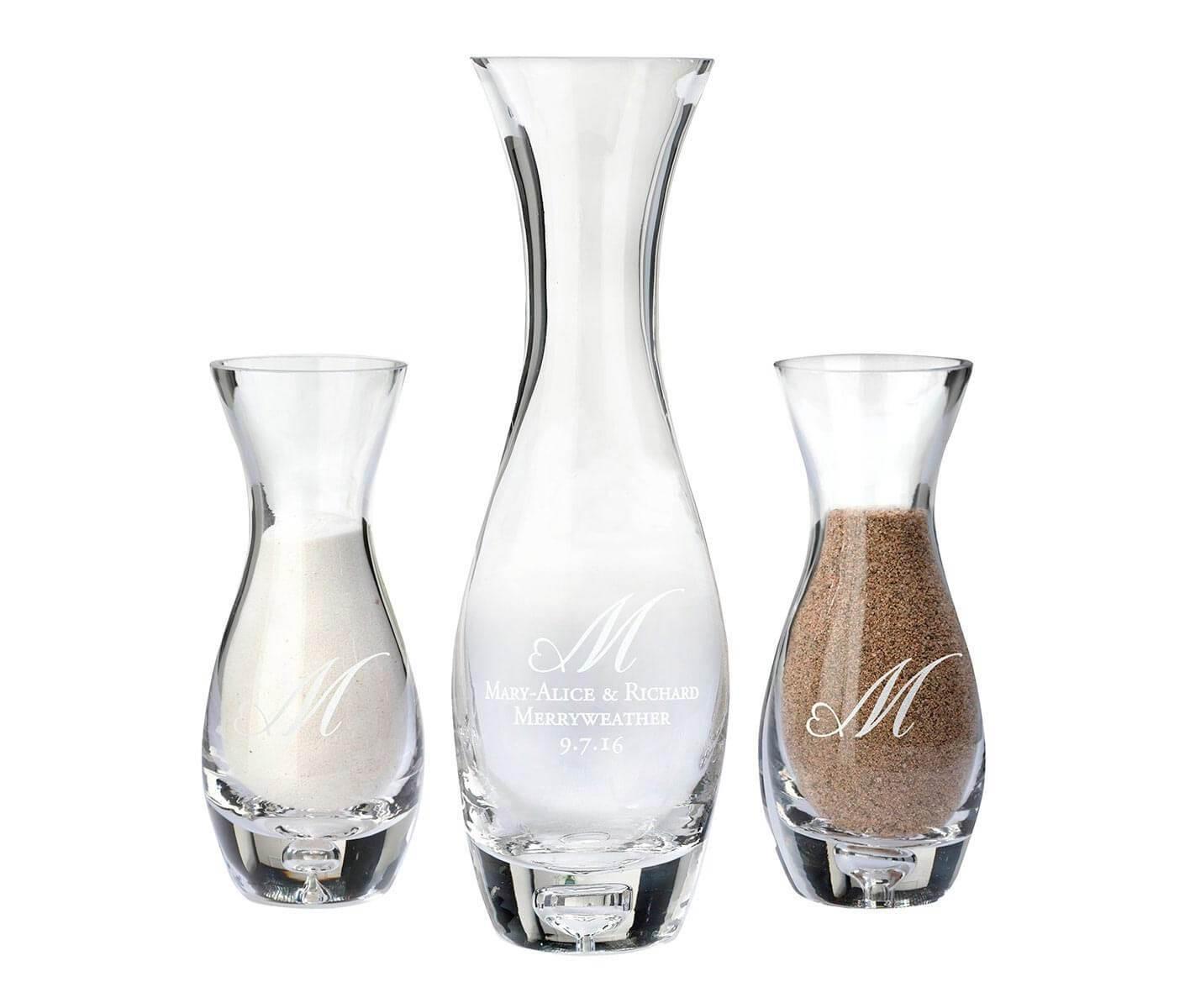 sand ceremony vases of monogram vase intended for unity sand ceremony set together forever heart monogram personalization