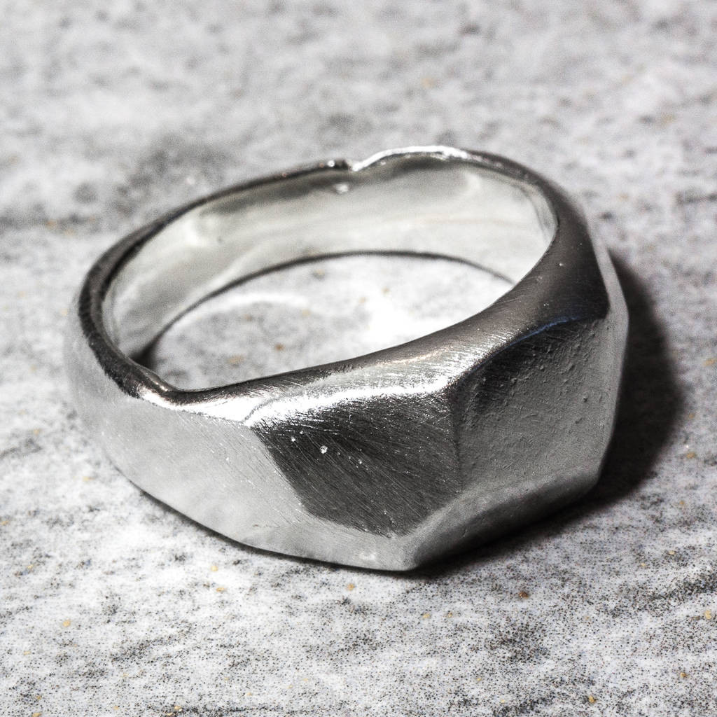 sand ceremony vases of sterling silver facet sand cast ring by the jewellery boutique in sterling silver facet sand cast ring