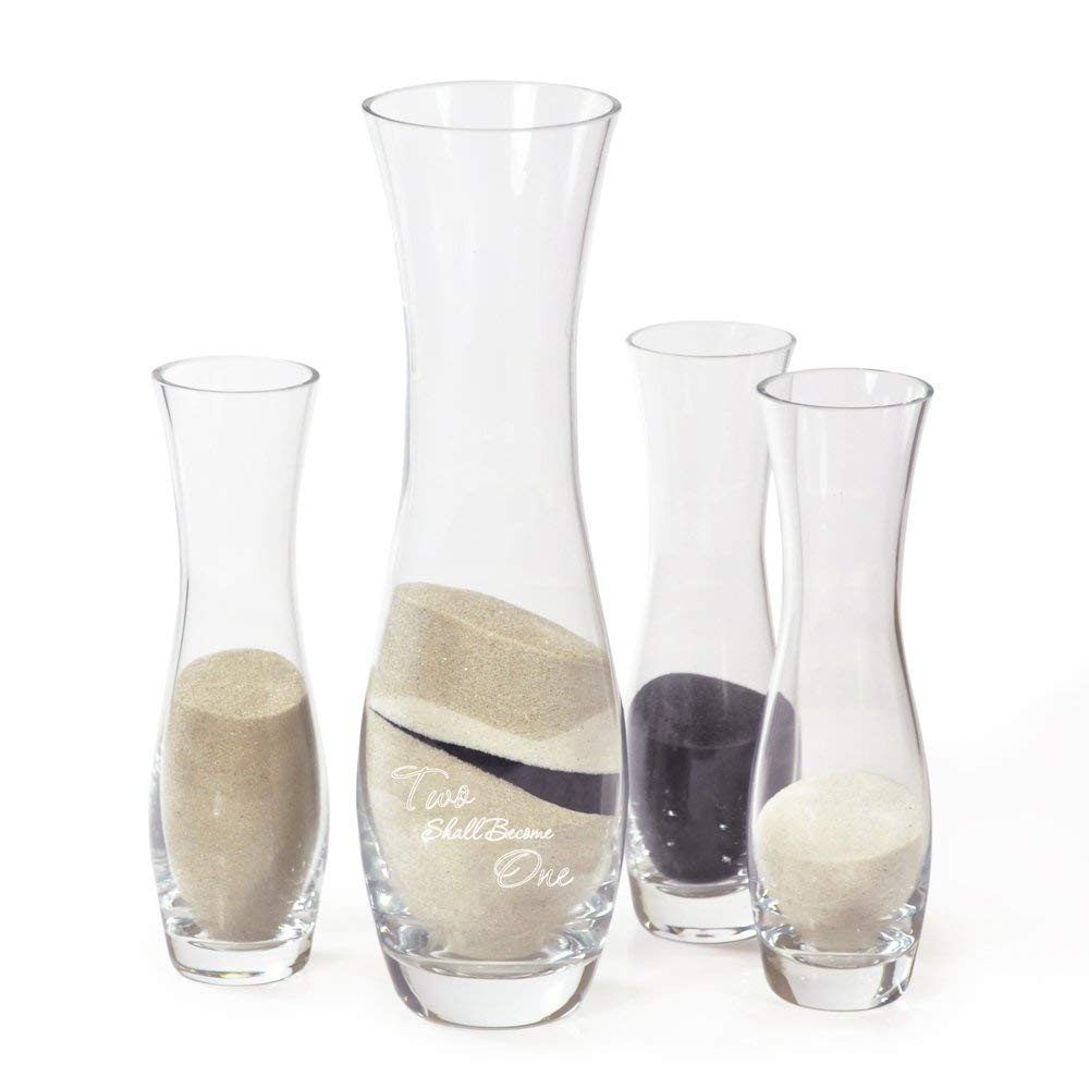 sand ceremony vases personalized of amazon com cathys concepts two shall become one sand 4pc ceremony for amazon com cathys concepts two shall become one sand 4pc ceremony unity set home kitchen