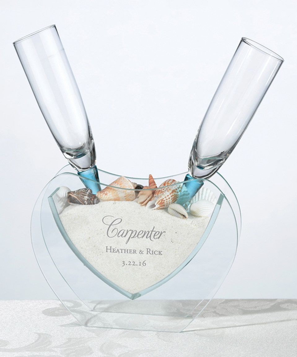 sand in vase for wedding of lillian rose personalized coastal sand toasting glass set wedding with toasting flutes sand heart personalized vase monogram perfect for a destination wedding this set includes a pair of toasting flutes a glass vase sand