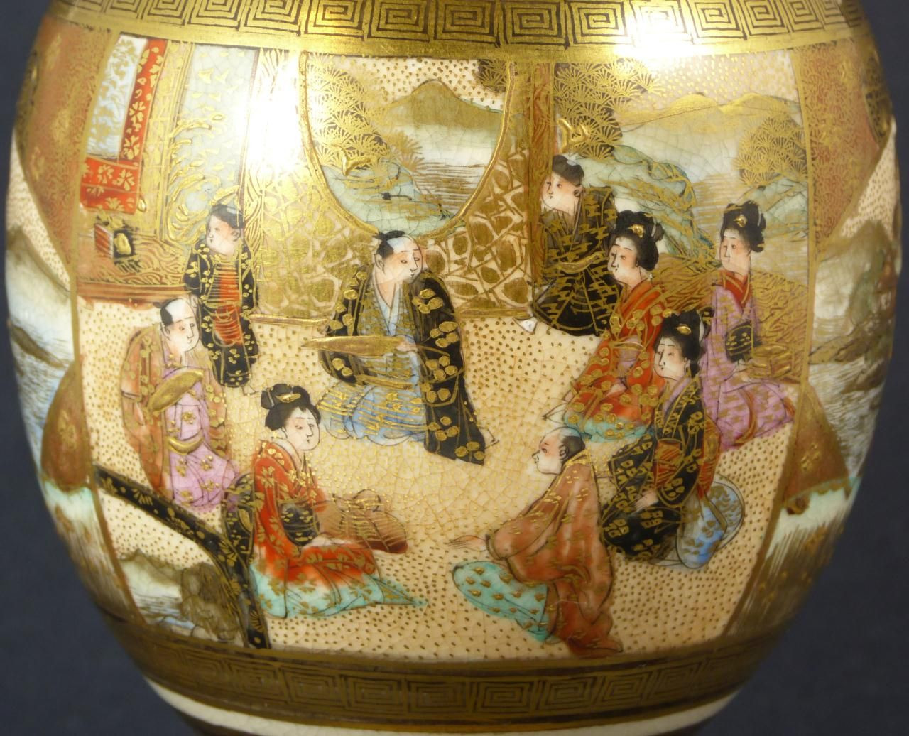 satsuma porcelain vase of detail from hand painted satsuma porcelain vase beautiful satsuma inside detail from hand painted satsuma porcelain vase