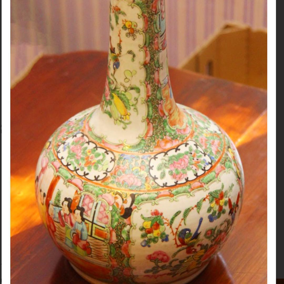 satsuma vase ebay of aingers hash tags deskgram pertaining to auction this tuesday and my eyes are on a few pieces like this cantonese vase