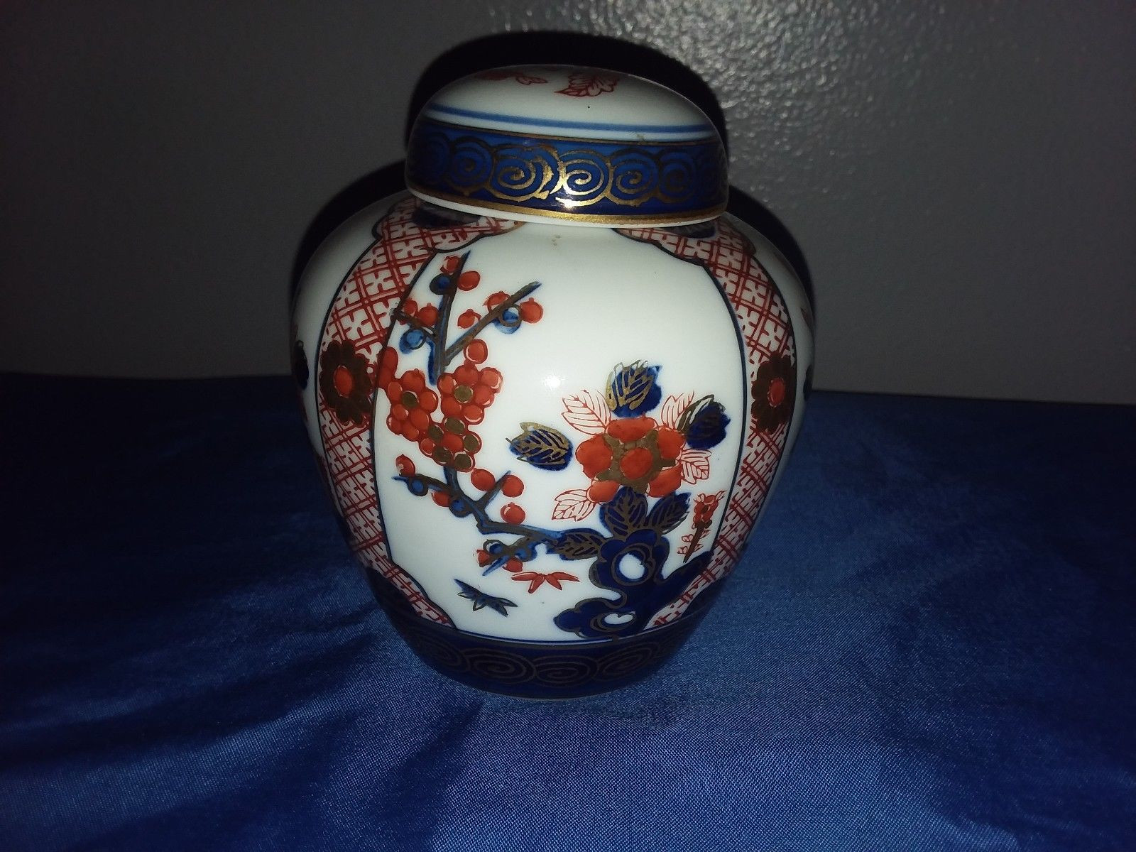 satsuma vase made in china of vintage ginger jar porcelain goldimari hand painted floral gold gilt pertaining to 1 of 9only 1 available