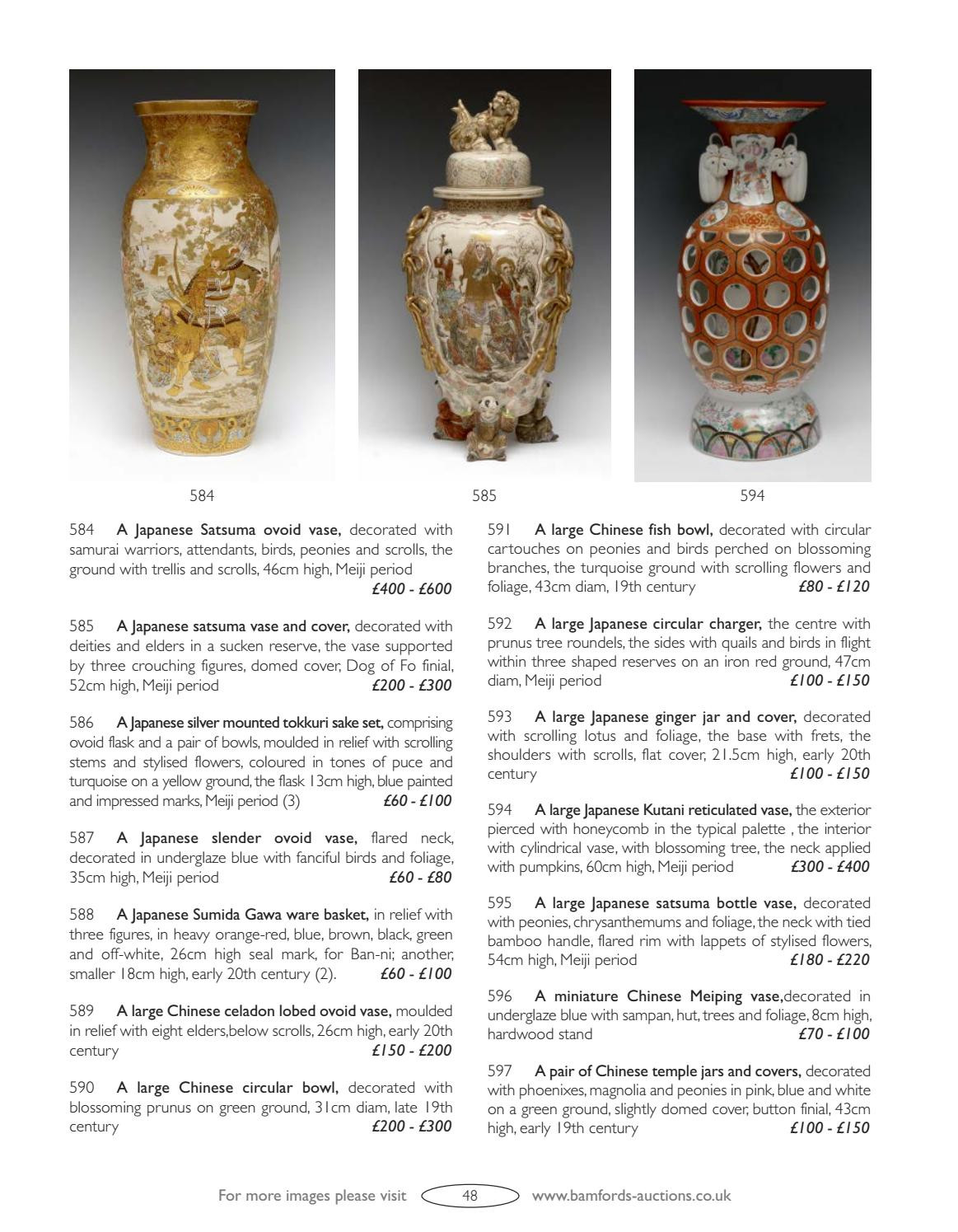 satsuma vase with handles of bamfords auctioneers valuers by jamm design ltd issuu with page 50