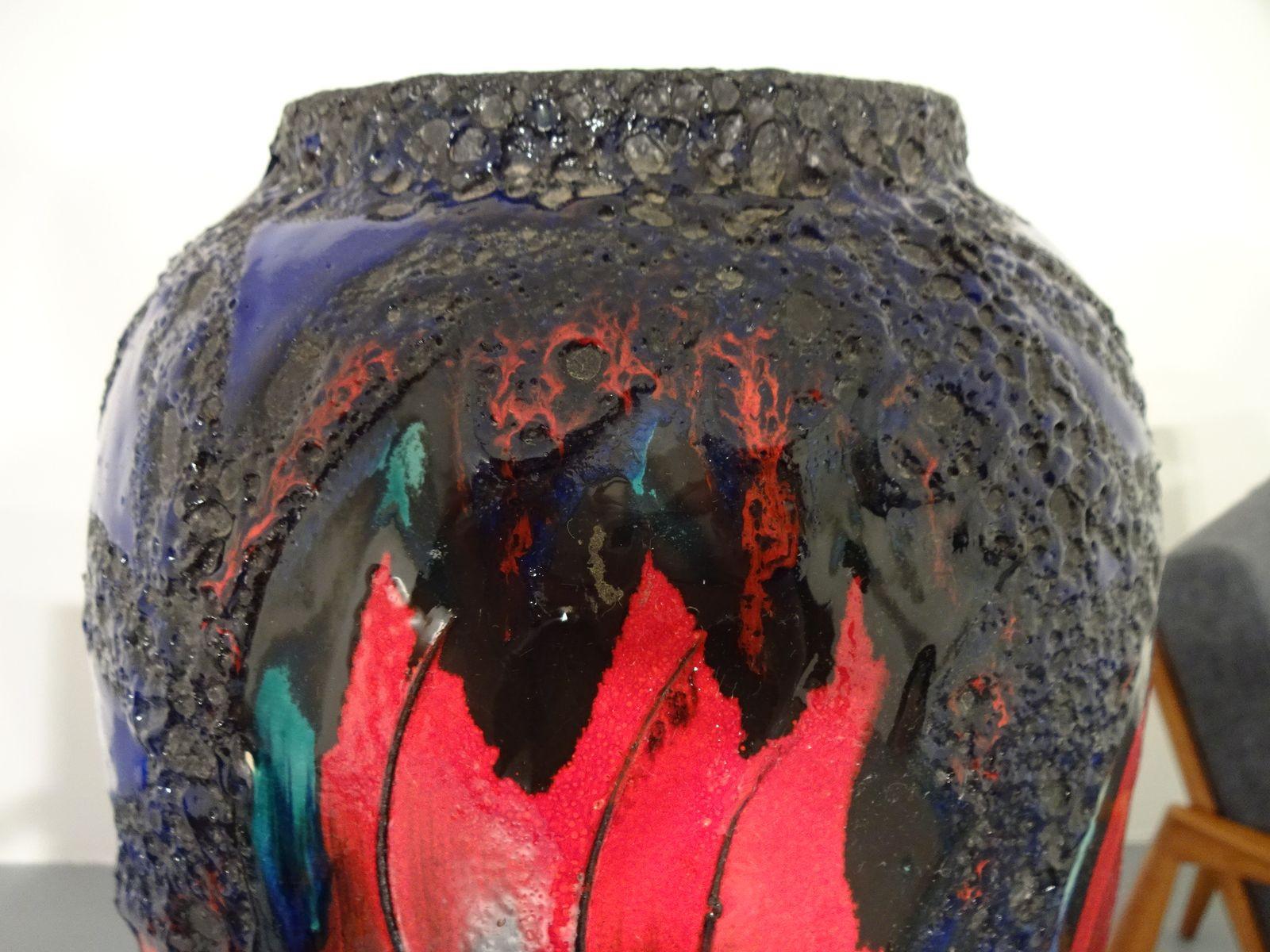 scheurich keramik vase of groaŸe fat lava keramik vase von scheurich 1970er bei pamono kaufen for preis 23000 e regula¤rer preis 30000 e