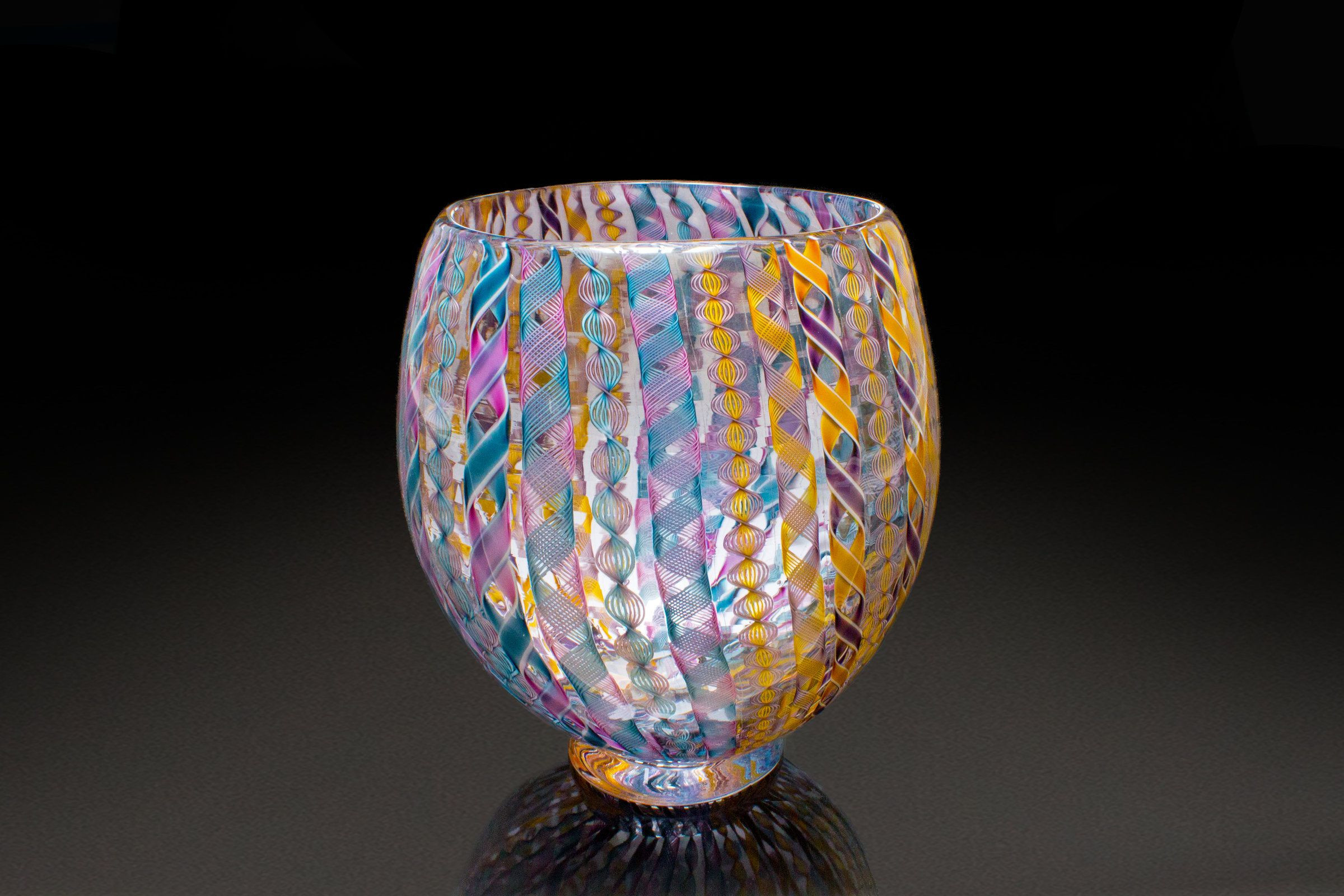 sea urchin glass vase of mardis gras zanfirico vase by april wagner art glass vase glass with regard to mardis gras zanfirico vase by april wagner this beautiful hand blown glass vessel features
