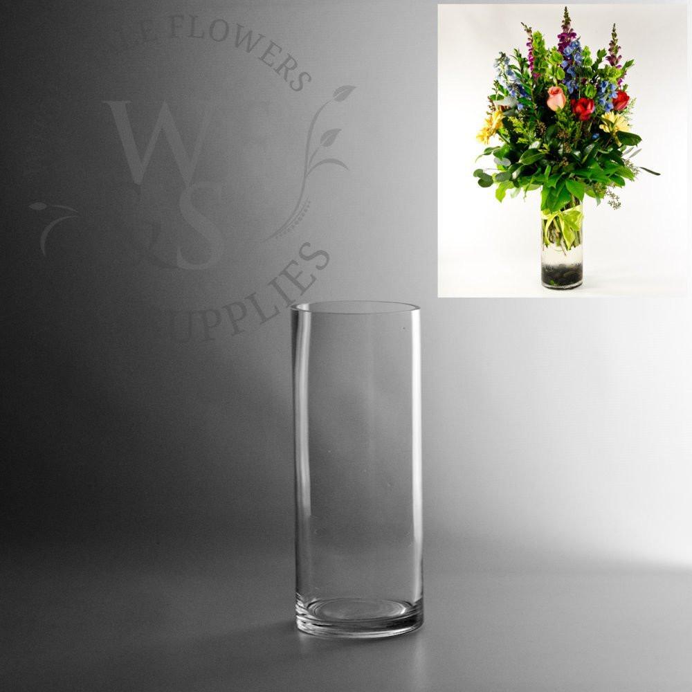 Set Of 3 Cylinder Glass Vases Of Glass Cylinder Vases wholesale Flowers Supplies Inside 10 X 4 Glass Cylinder Vase