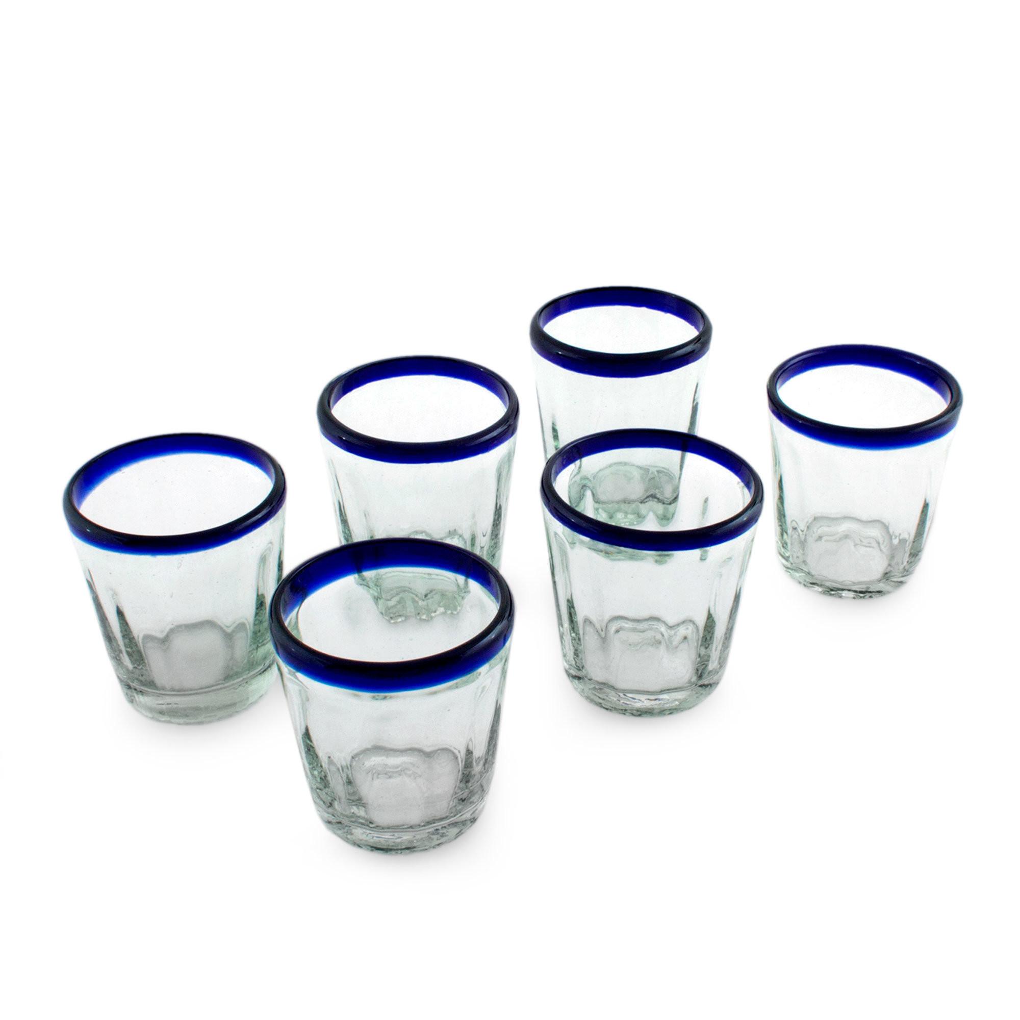 Set Of 3 Cylinder Glass Vases Of Novica Hand Blown 10 Oz Juice Glass Set Wayfair Inside Hand Blown 10 Oz Juice Glass Set