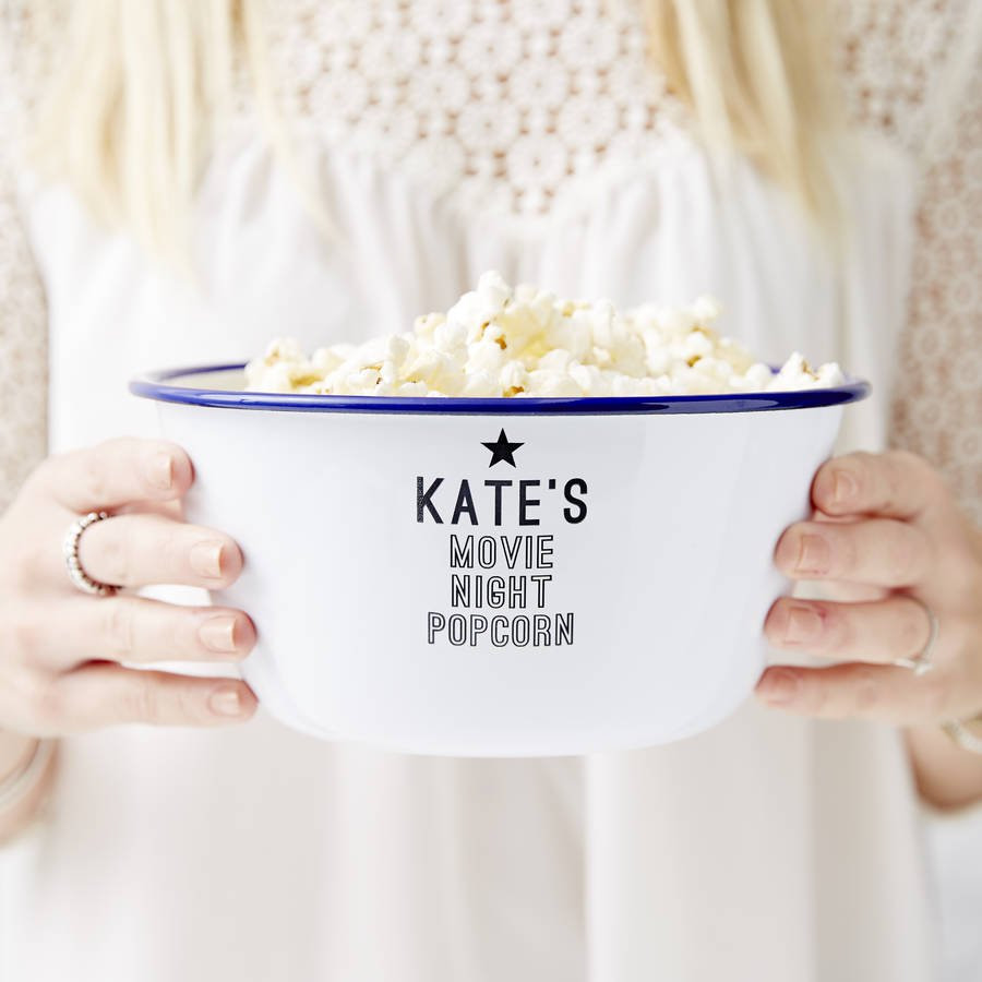 shallow glass bowl vase of personalised bowls notonthehighstreet com intended for personalised enamel popcorn bowl