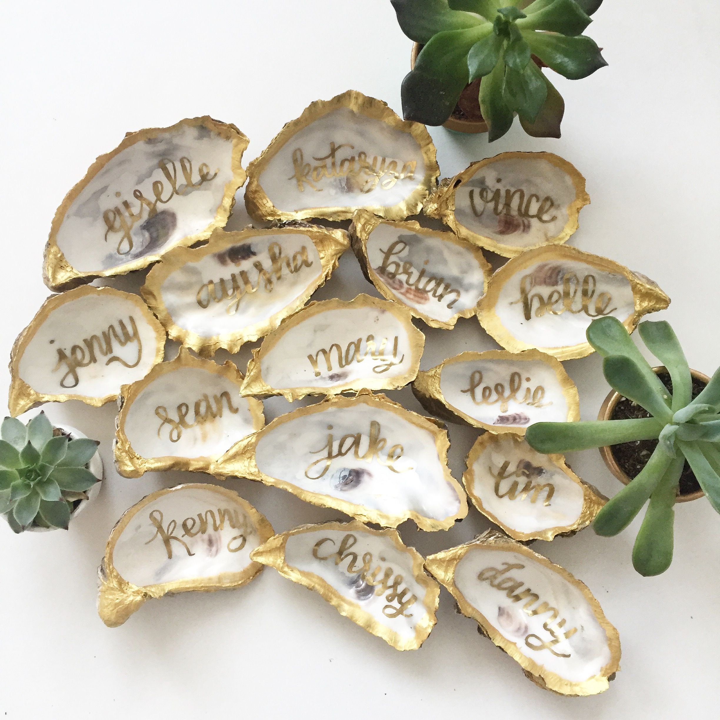 shell vase filler of gold oyster shell place cards for sf wedding www throughout gold oyster shell place cards for sf wedding www prettypleasecalligraphy com wedding place