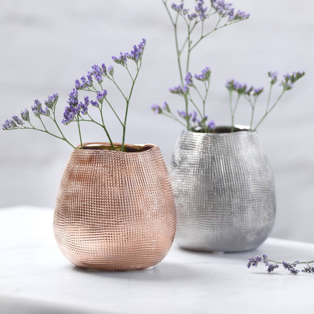 shoe flower vase of metallic rose gold or silver metal vase by the best room throughout metallic rose gold or silver metal vase