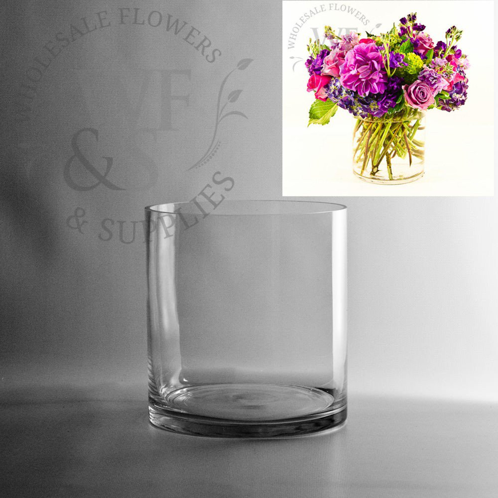 short square glass vases of glass cylinder vases wholesale flowers supplies with regard to 7 5 x 7 glass cylinder vase