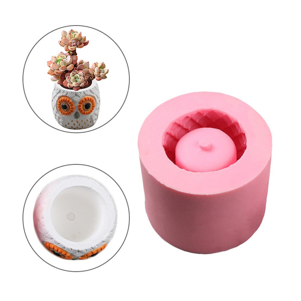 silicone vase mold of diy 3d vase mold silicone animals pattern flower pot owl shaped inside diy 3d vase mold silicone animals pattern flower pot owl shaped concrete pot molds concrete mold in clay molds from home garden on aliexpress com