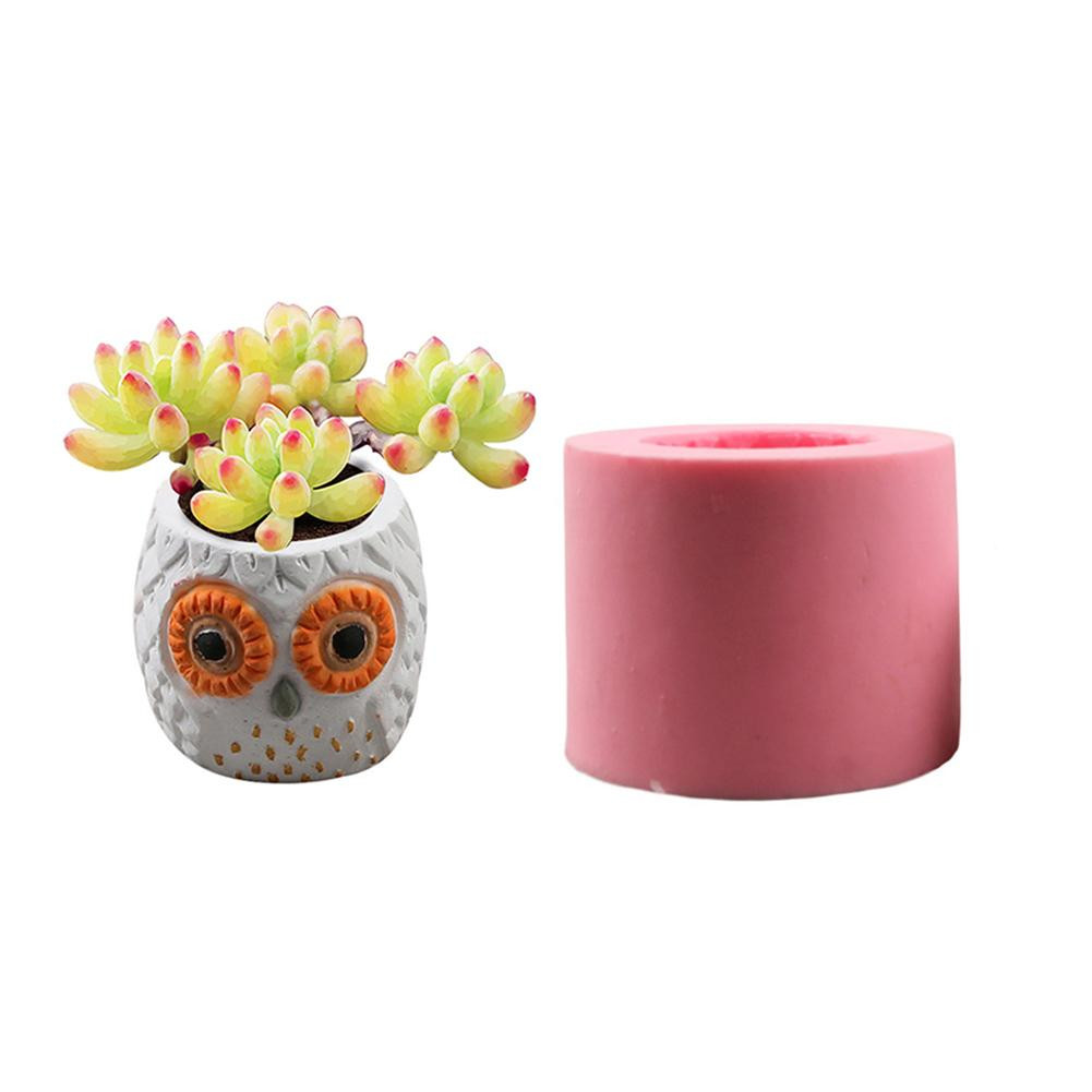 silicone vase mold of diy 3d vase mold silicone animals pattern flower pot owl shaped intended for diy 3d vase mold silicone animals pattern flower pot owl shaped concrete pot molds concrete mold in clay molds from home garden on aliexpress com