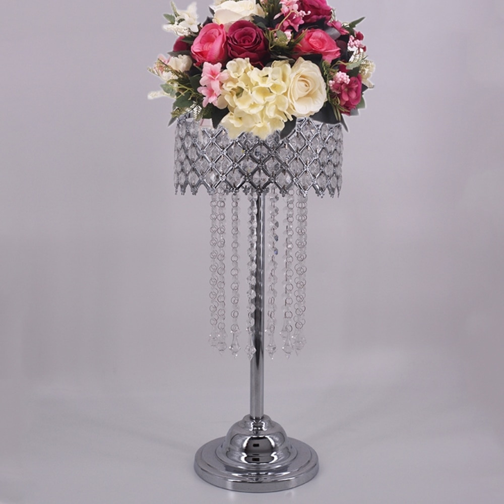 Silver Flower Vases Weddings Of Silver Crystal Road Lead 59 Cm Height Props Wedding Table Party In Silver Crystal Road Lead 59 Cm Height Props Wedding Table Party Centerpiece Flower Holder Stand Home Decor 4 Pcs Lot In Vases From Home Garden On