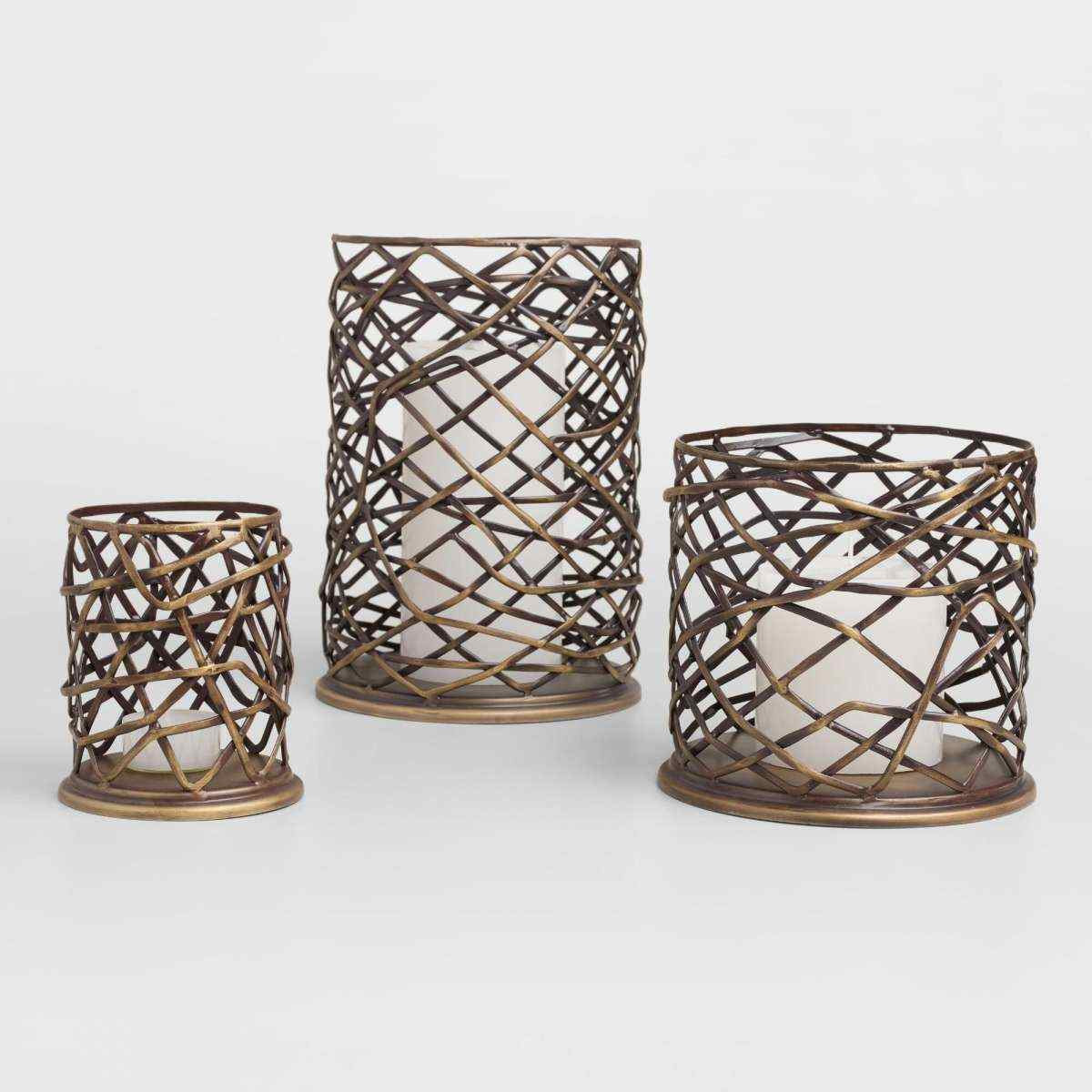 silver hurricane vase of metal hurricane candle holders unique for crystal draped 12 75 with metal hurricane candle holders inspirational which woven metal brookyn hurricane candleholder by world market